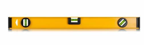 Yellow building level. Isolated on white background Stock Photo
