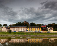 Yellow building porvoo finland Royalty Free Stock Image