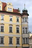 Yellow building in Prague Stock Image