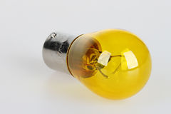 Yellow bulb for car royalty free stock photos