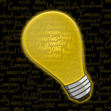 Yellow bulb Stock Image