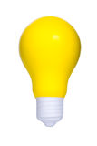 Yellow bulb light. Isolated on white background royalty free stock photography