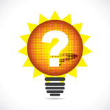 Bulb with question mark Royalty Free Stock Photography
