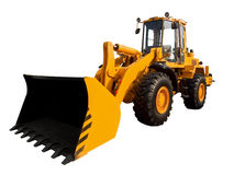 Yellow buldozer Royalty Free Stock Images