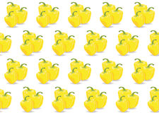 Yellow Bulgarian Bell Pepper pattern Royalty Free Stock Photography