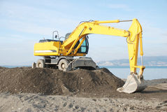 Yellow bulldozer Stock Image