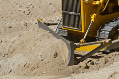 Yellow bulldozer Stock Image