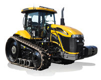 Challenger tractor. Yellow challenger tractor Royalty Free Stock Photo