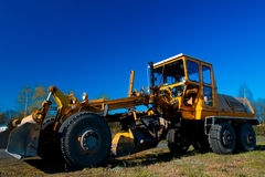 Yellow bulldozer Stock Photography