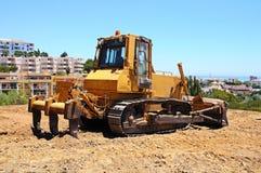 Yellow bulldozer, Andalusia, Spain. Stock Image