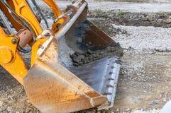 Yellow bulldozer bucket Stock Photo