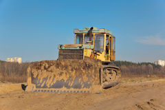 Yellow bulldozer Royalty Free Stock Photos