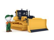 Yellow bulldozer Royalty Free Stock Photos