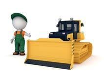 Yellow bulldozer Stock Photo