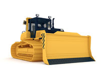 Yellow bulldozer Royalty Free Stock Images