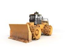 Yellow Bulldozer 3d render Isolated on white. Yellow Bulldozer 3d render Isolated on Royalty Free Stock Photos