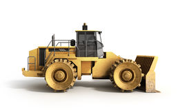 Yellow Bulldozer 3d render Isolated on white. Image Royalty Free Stock Photos