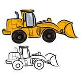 Yellow Bulldozer-excavator Royalty Free Stock Photo