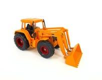 Yellow bulldozer isolated on white Royalty Free Stock Images