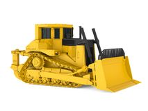 Yellow Bulldozer Isolated. On white background. 3D render Royalty Free Stock Images