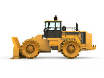 Yellow Bulldozer Isolated Royalty Free Stock Photography