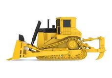 Yellow Bulldozer Isolated. On white background. 3D render Stock Photos