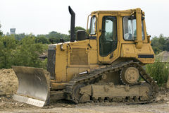 Yellow Bulldozer Royalty Free Stock Photo