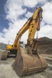 Yellow bulldozer. A yellow bulldozer parked in a construction Stock Photography