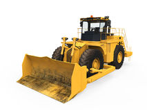 Yellow Bulldozer. On white background. 3D render Royalty Free Stock Photography