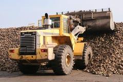 Yellow bulldozer working Stock Photos