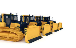 Yellow bulldozers Stock Photography