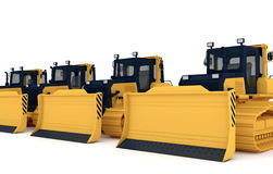 Yellow bulldozers Royalty Free Stock Photos
