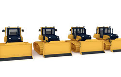 Yellow bulldozers Royalty Free Stock Image