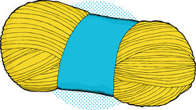 Yellow Bundle of Yarn Stock Image