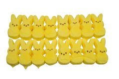 Yellow bunny candy Royalty Free Stock Images
