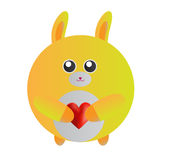 Yellow Bunny Stock Images