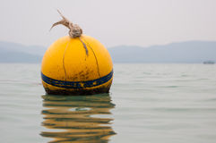 Yellow Buoy floats Stock Images