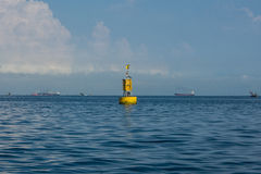 Yellow buoy Stock Photography