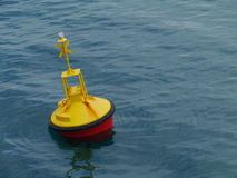 A yellow buoy in the Mediterannean Stock Photos