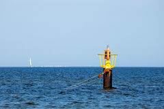 Yellow buoy Royalty Free Stock Photography