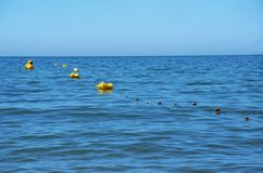 Yellow buoys Royalty Free Stock Photography