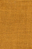 Yellow Burlap Texture Stock Images