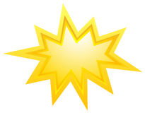 Yellow bursting star Stock Image