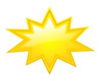 Yellow bursting star Royalty Free Stock Image
