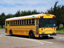 Yellow bus. Traditional american yellow school bus royalty free stock photo