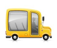 Yellow bus. Vector illustration on white background Stock Images