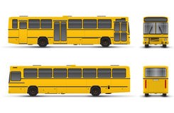 Yellow bus. Scheme over white background Stock Photos