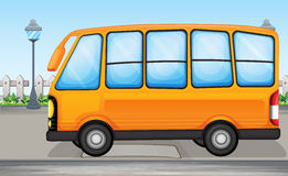 A yellow bus Stock Image