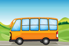 A yellow bus Stock Photography