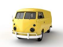 Yellow bus. Isolated on white background Stock Photo